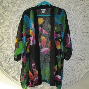Vtg Simply Silk Cover Up - One Size - 100% Silk